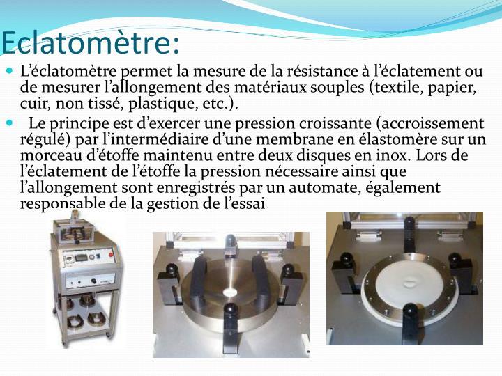 Eclatomètre: