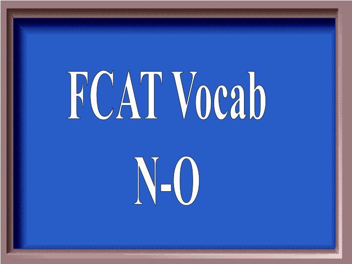 FCAT Vocab