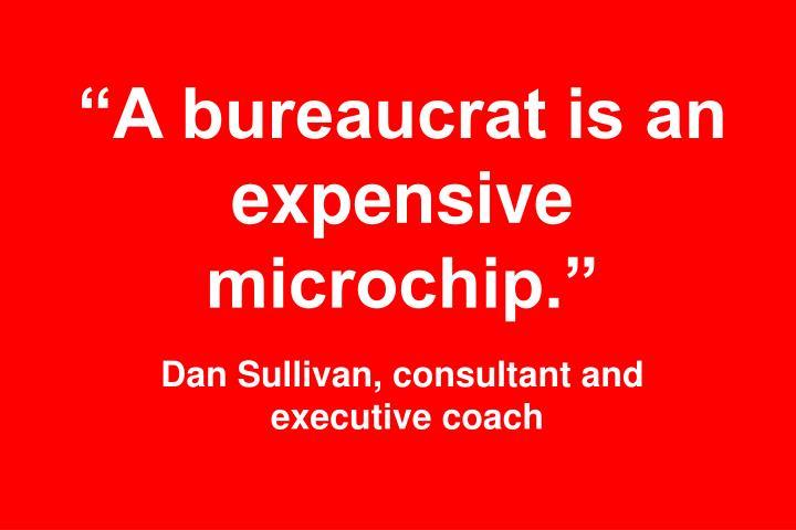 """""""A bureaucrat is an expensive microchip."""""""