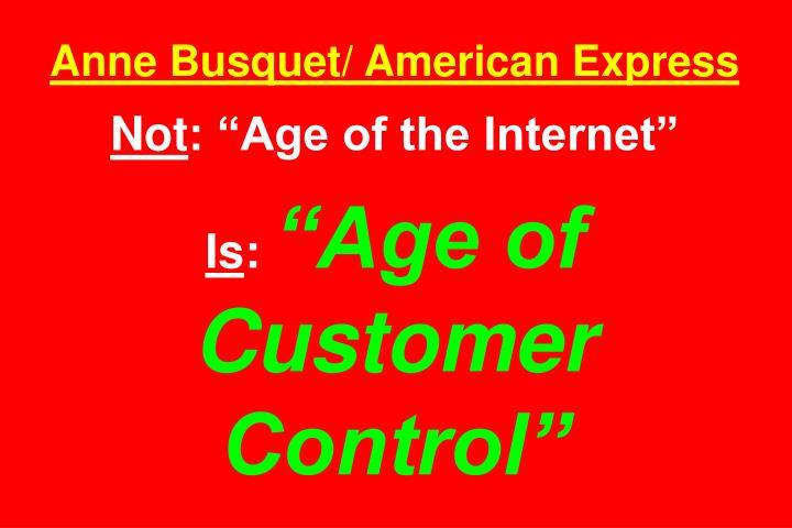 Anne Busquet/ American Express
