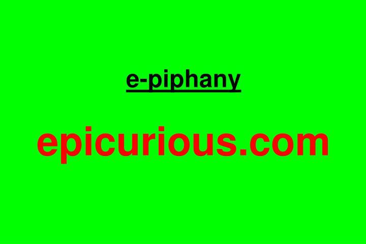 e-piphany