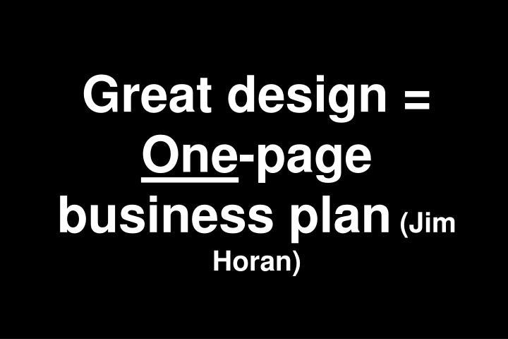 Great design =
