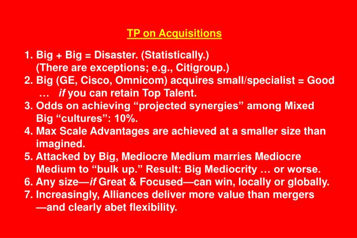 TP on Acquisitions