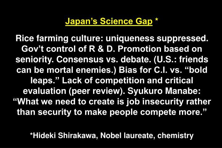 Japan's Science Gap