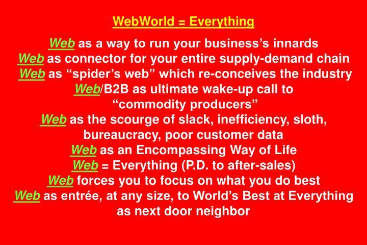 WebWorld = Everything