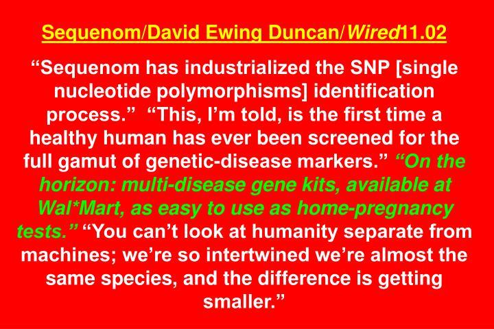 Sequenom/David Ewing Duncan/