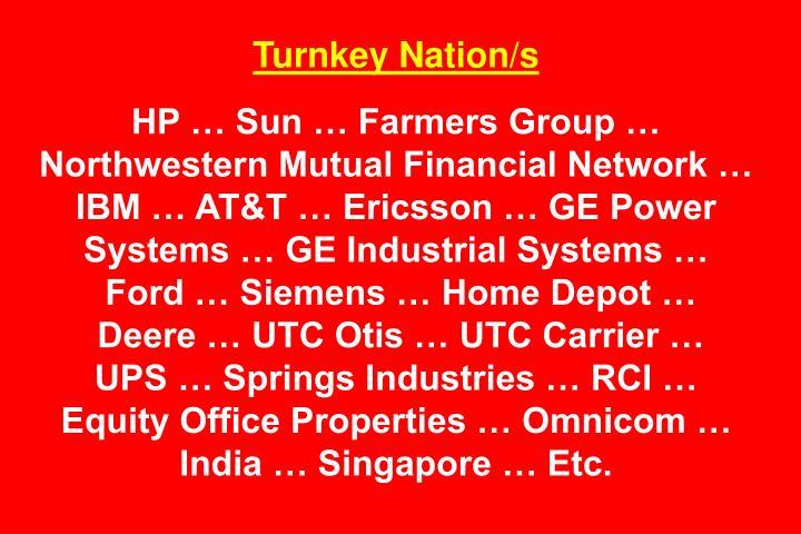 Turnkey Nation/s