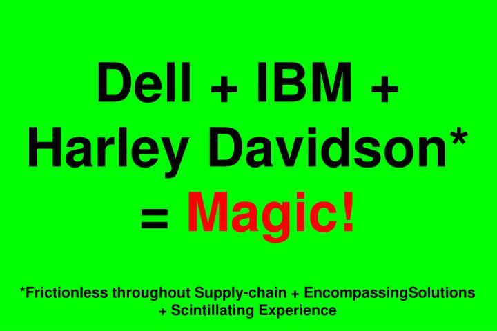 Dell + IBM + Harley Davidson* =