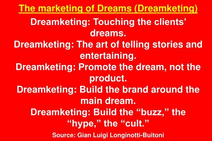 The marketing of Dreams (Dreamketing)
