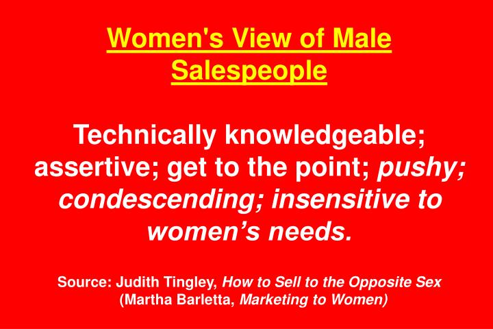 Women's View of Male Salespeople