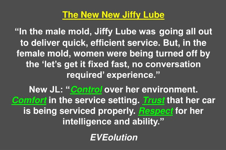 The New New Jiffy Lube