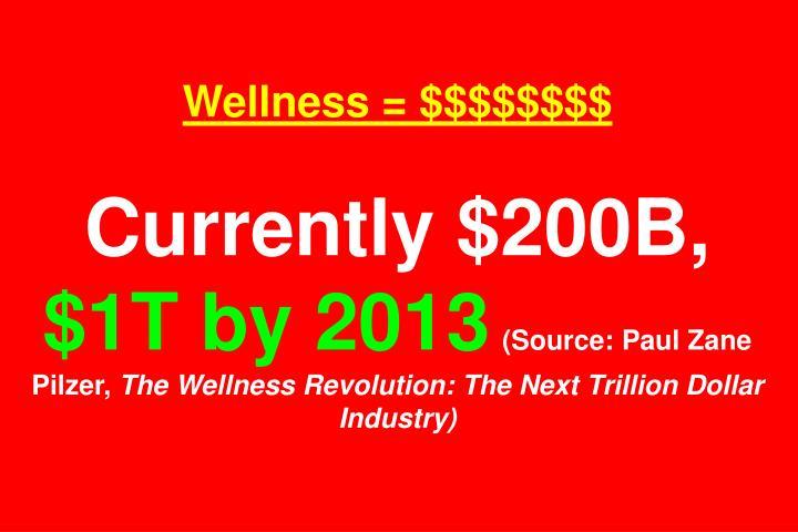 Wellness = $$$$$$$$