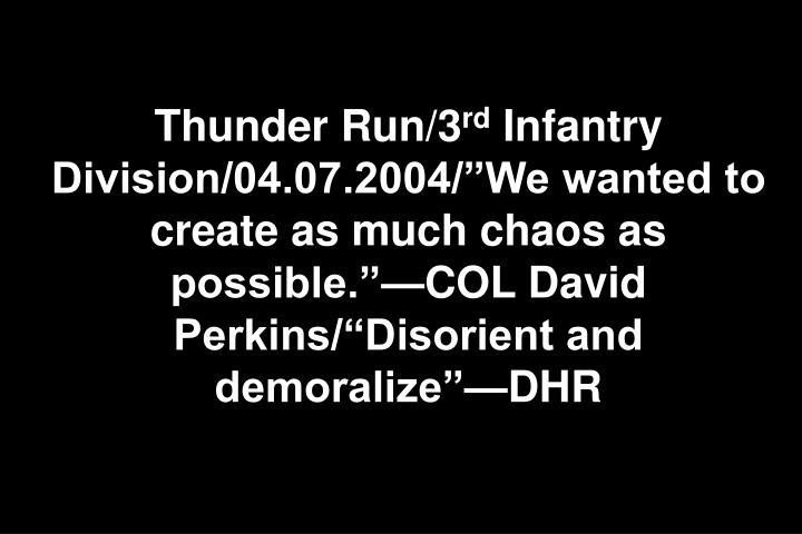 Thunder Run/3