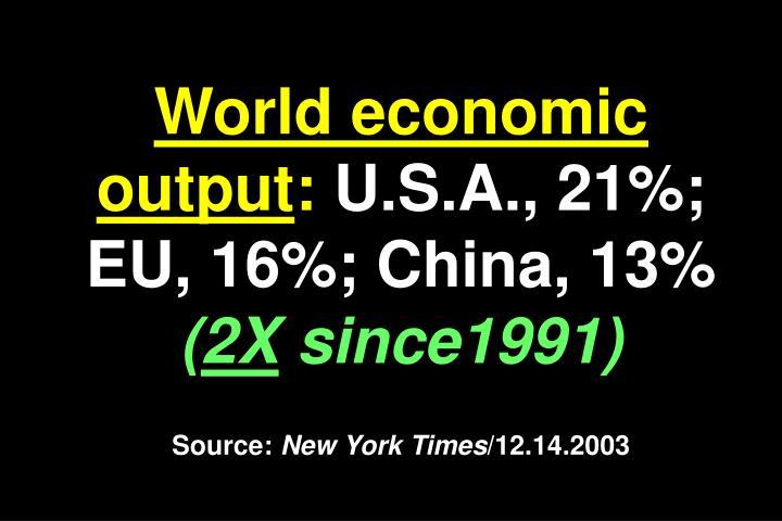 World economic output