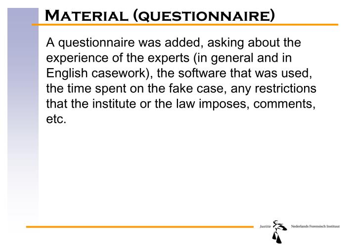 Material (questionnaire)