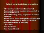 role of browning in food preperation