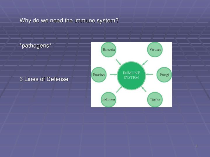 Why do we need the immune system?