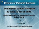 division of motorist services