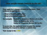 how people remain lawfully in the us