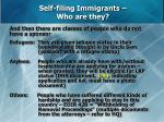 self filing immigrants who are they