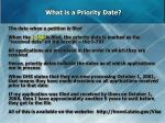 what is a priority date
