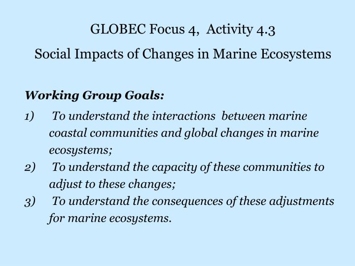 GLOBEC Focus 4,  Activity 4.3