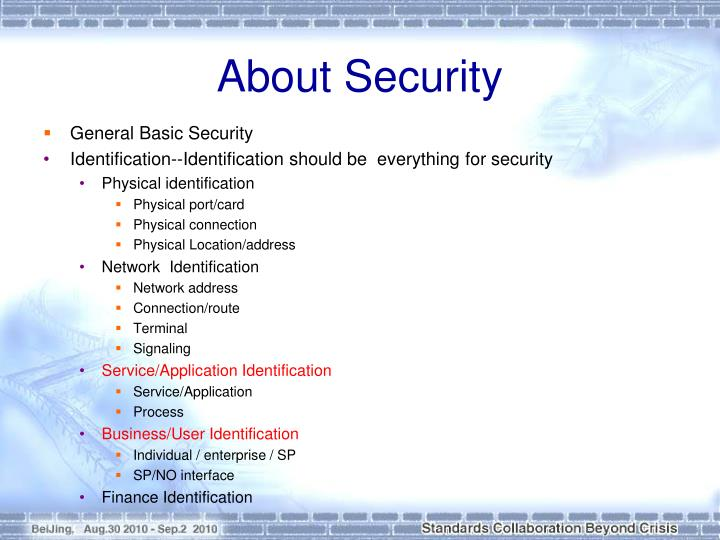 About Security