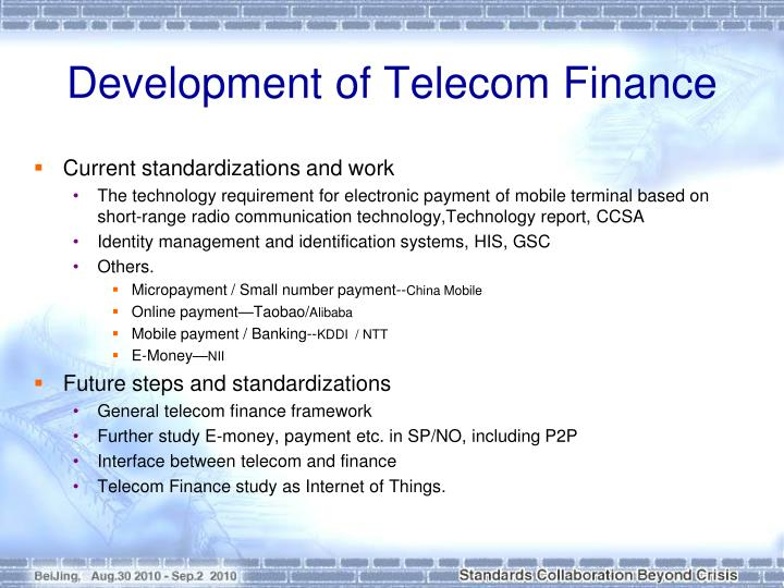 Development of Telecom Finance