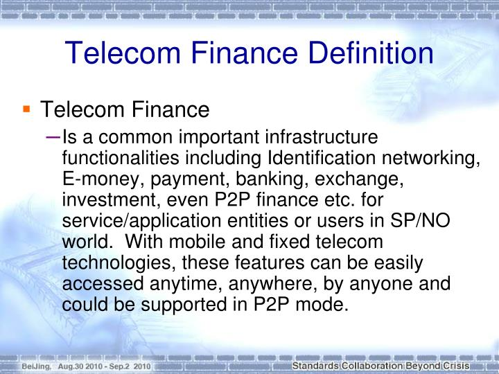 Telecom Finance Definition