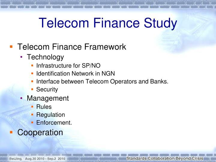 Telecom Finance Study