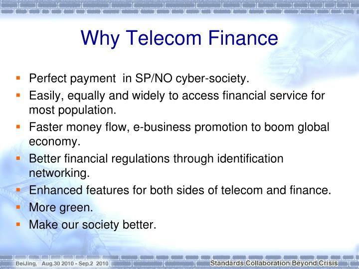 Why Telecom Finance