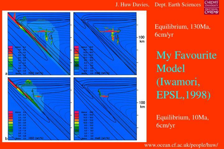 My Favourite Model (Iwamori, EPSL,1998)