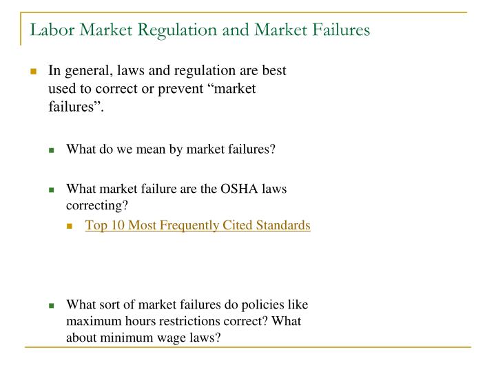 Labor Market Regulation and Market Failures