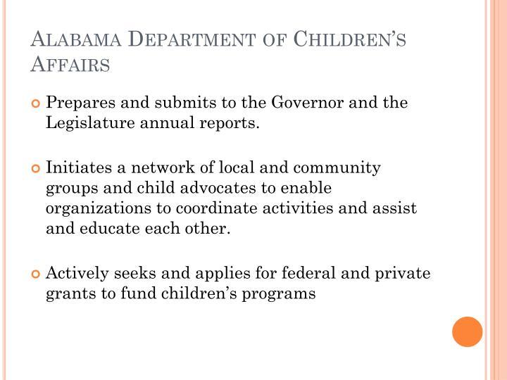Alabama Department of Children's Affairs