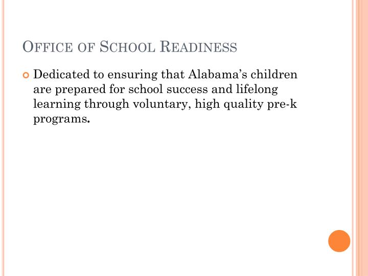 Office of School Readiness