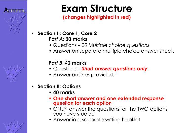 Exam Structure
