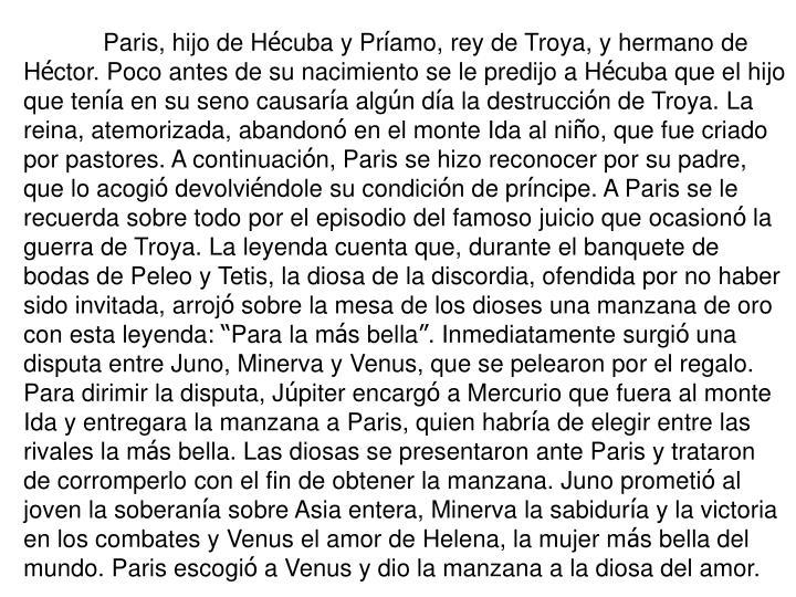 Paris, hijo de H