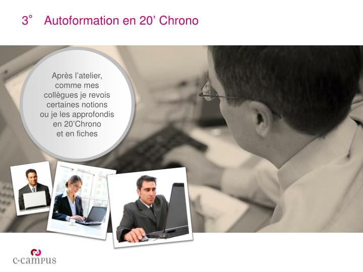 3° Autoformation en 20' Chrono
