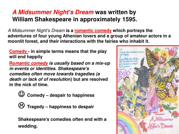 an overview of the theme in a midsummer nights dream a play by william shakespeare Free summary and analysis of the events in william shakespeare's a midsummer night's dream that won't make you snore we promise  as the play opens, .