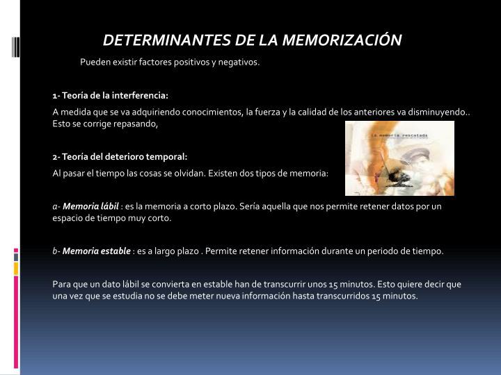 DETERMINANTES DE LA