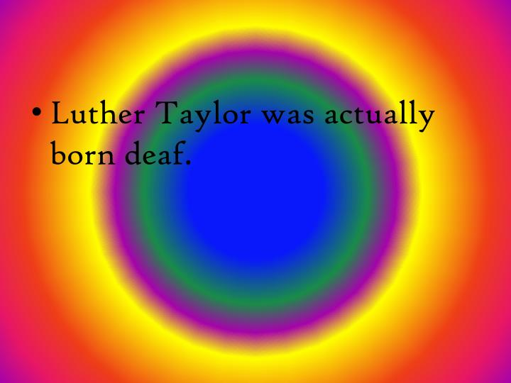 Luther Taylor