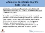 alternative specifications of the right cont d4