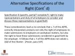 alternative specifications of the right cont d5