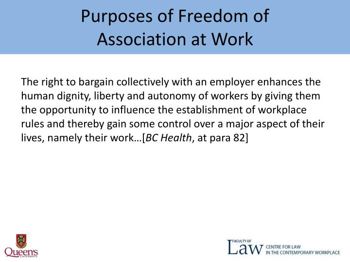 Purposes of Freedom of