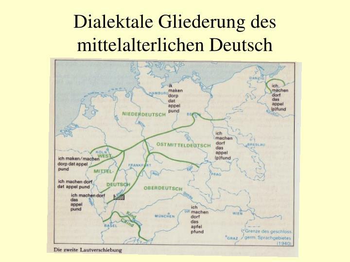 Dialektale Gliederung des mittelalterlichen Deutsch