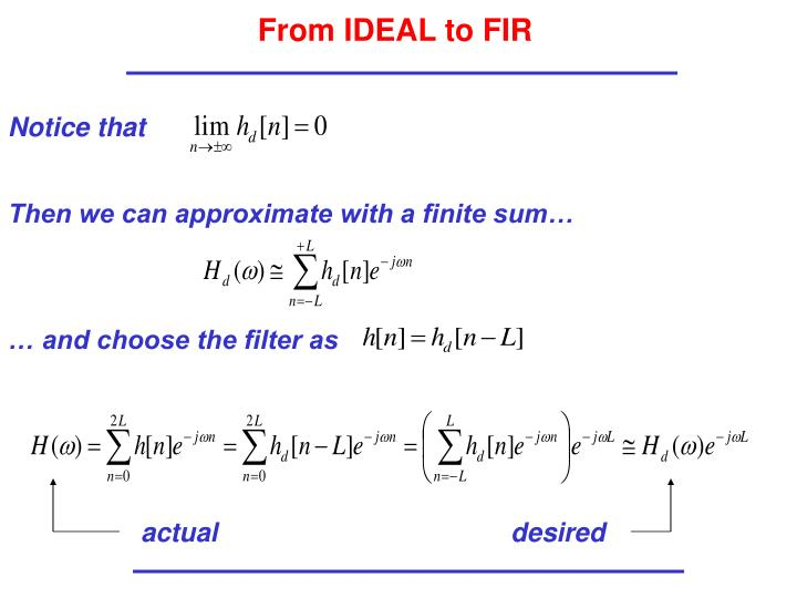 From IDEAL to FIR