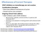effectiveness of current therapies