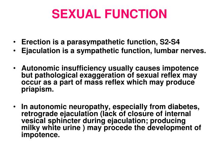 SEXUAL FUNCTION