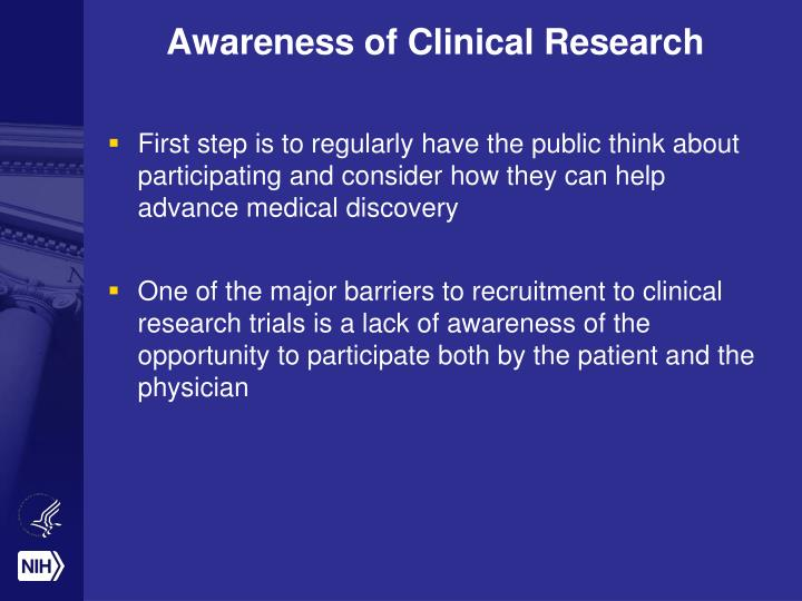 Awareness of Clinical Research