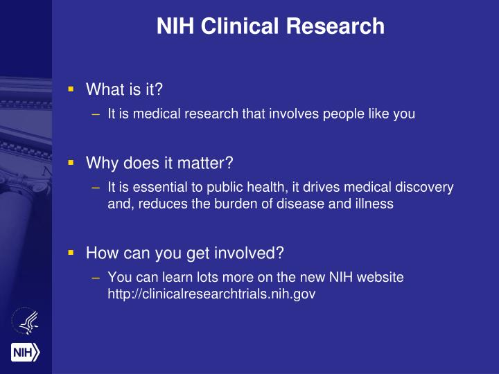 Nih clinical research